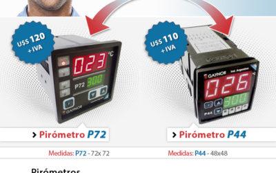 Controlá la temperatura del verano con los Pirómetros con Doble Display.
